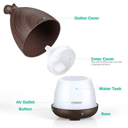 urpower essential oil diffuser 130ml wood grain ultrasonic import it all. Black Bedroom Furniture Sets. Home Design Ideas
