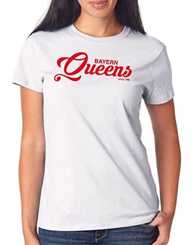 Bayern Queens T-Shirt Girls White Certified Freak
