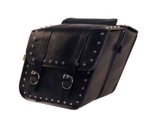 Willie And Max 58702-01 Ranger Studded Slant Saddlebags, ...