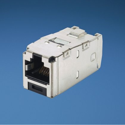 Panduit Cat6 Mini-Com TX6 Plus SHIELDED Jack Module, 24 Pack CJS688TGY-24