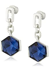 "Kenneth Cole New York ""Sapphire Lights"" Faceted Stone Drop Earrings"