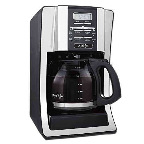 Mr. Coffee BVMC-SJX33GT 12-Cup Programmable Coffeemaker, Chrome image