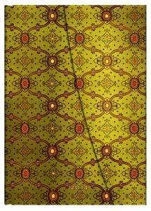 French Ornate Vert - Paperblanks 2014 Weekly Planner (Midi 5 x 7 Horizontal)