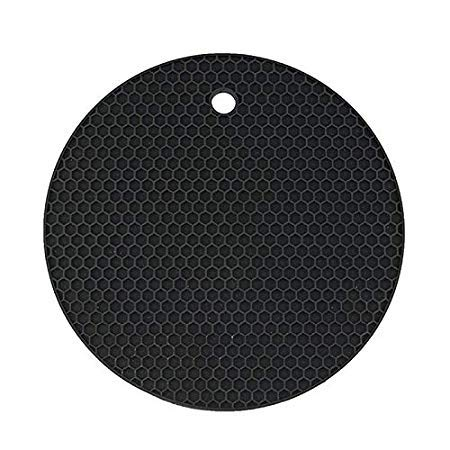 Assyrian Round Coaster Non Slip Silicone Cushion Placemat Pot Holder Pan Mat Heat Resistant Pad - Pad ()