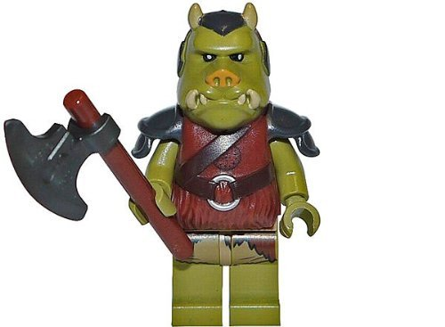Lego Star Wars Minifigure Gamorrean Guard with Axe from Set 9616 Jabba's - Star Lego Pit Set Wars Rancor