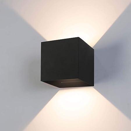 Lampada da parete alluminio incl 3,2w LED Bianco Lampada muro parete illuminazione esterno NUOVO