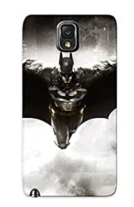 Galaxy Note 3 Case Cover - Slim Fit Tpu Protector Shock Absorbent Case (batman Arkham Knight)