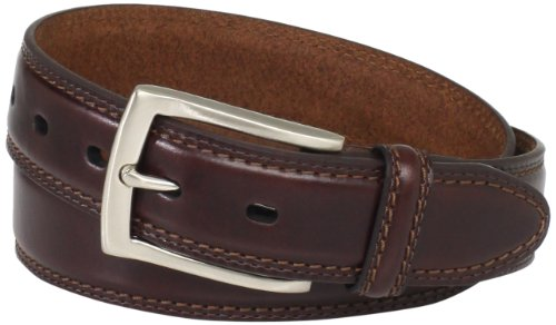 Dockers Men's 35mm Feather Edge Belt, Brown,38 (Brown Feather Edge)