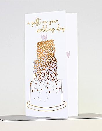 Gluckwunschkarte Mit Hochzeitstorte Fur Geld Gwe07 Amazon De