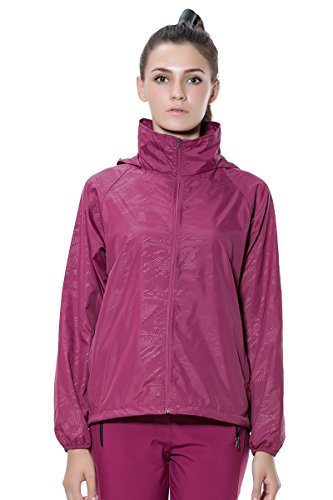 Sports Outdoor Femme Sanke Screen Pour Red Hoodies Sun Étanche Course De Veste Purplish T1nYqzYX