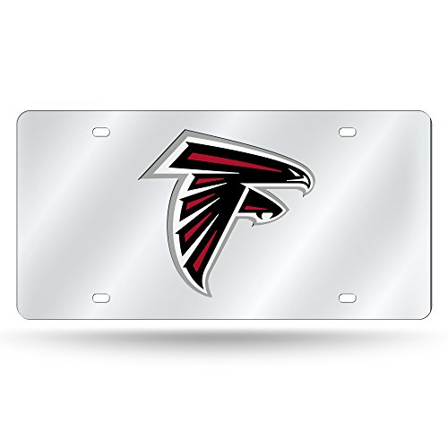 - Rico Atlanta Falcons NFL Mirrored Laser Cut License Plate Laser Tag