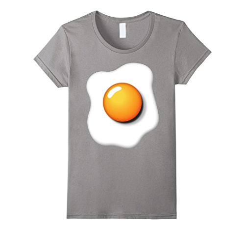 Womens Funny Fried Egg Shirt DIY Halloween Costume Ideas Egg Yolk Medium Slate - Ideas For Halloween Costumes Diy