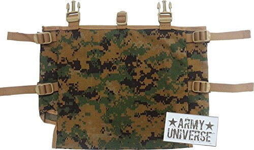 Usmc Digital Camo (ILBE Radio Pouch MARPAT Gen 2 USMC - US Made Digital Woodland Camo Official Military Pouch with ArmyUniverse Pin)
