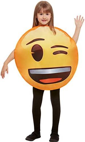 Funidelia Disfraz de Emoji guiñando un Ojo Infantil: Amazon.es ...