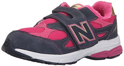 New Balance KV990P Running Shoe (Little Kid) Pink/Grey