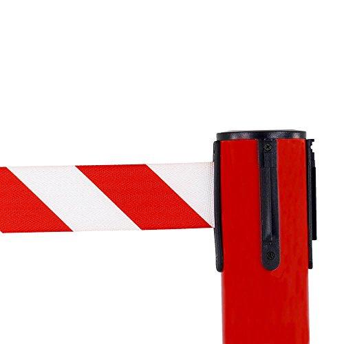 RS-GUIDESYSTEMS GLA 28-D/13-4,0 Gurtpfosten, innen, rot, rot/weiß schraffiert, 4 m aus Kunststoff
