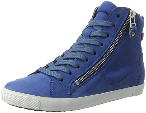 Sneaker Kennel High top Azur Schmenger Queens und Blau Weiss Zip Women's Sohle tqx6qU4r