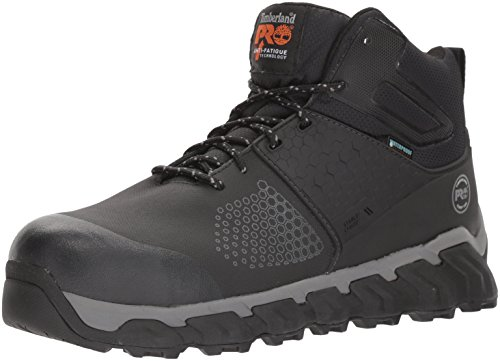 Timberland PRO Men's Ridgework Mid Industrial Boot, Black, 11 W US - Mens Waterproof Safety Boots