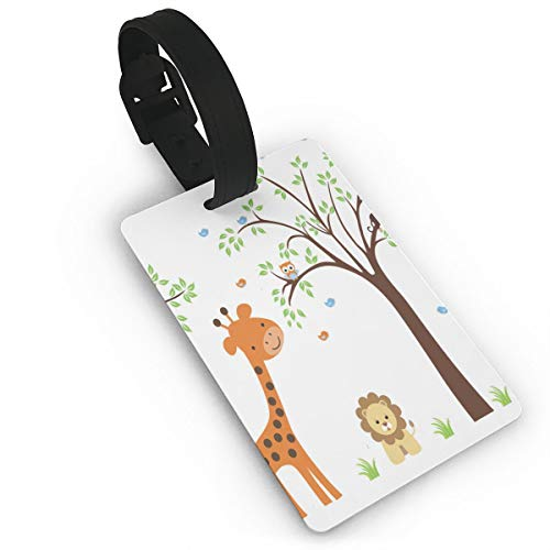 Luggage Tags Cute Jungle Animal Lion Bird Monkey Baggage Name Tag Holder Labels