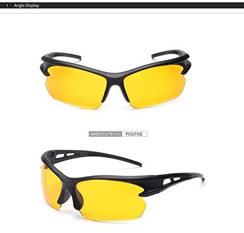 Gafas Aprigy de Gafas clásicos conducción Gafas Hombres Las Gafas Unisex Nocturna Amarilla Lente Nocturna de Hombres visión de q0Bnd8rgB