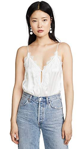 Cami NYC Women's Iris Thong Bodysuit, White, Small