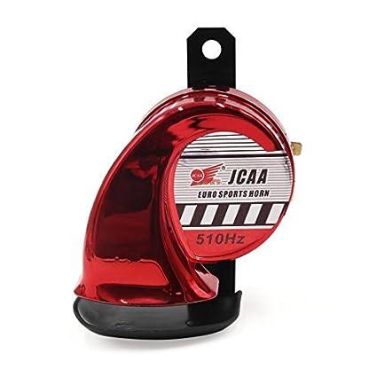 eDealMax Red Universal de la motocicleta eléctrica caracol en Forma de cuerno de Sirena trompeta 510Hz