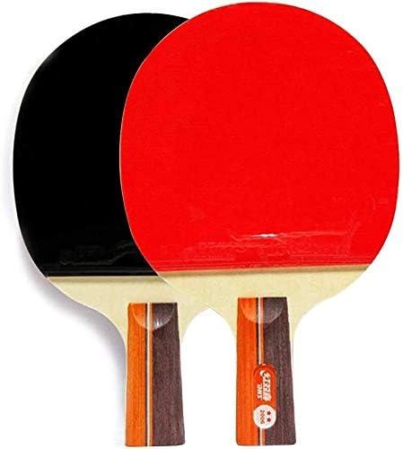 REWD Juego de Palas de Ping Pong Tabla Raqueta de Tenis del Ping-Pong de la Paleta Conjunto de 2 Raquetas de Tenis de Mesa adecuados for el Intermedio Mayores Jugadores