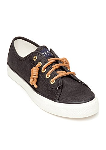 Sperry Seacoast Washed Black Bootsschuh Segelschuh Sneaker Damen-7,5m / 38,5