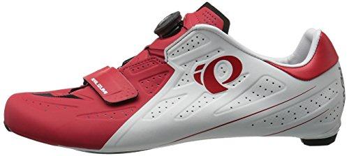 Pearl Izumi Elite Road V5 Bici Da Corsa Scarpe Bianco / Rosso 2017