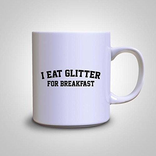 I Eat Glitter For Breakfast Fabulous Sparkle Hipster Coffee Mug - Sparkle Hipster