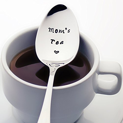 Mom's Tea with a Heart | Stamped Spoon | Christmas Gifts for Her | Foodie Gifts for Mom