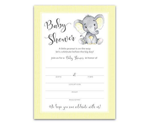 yellow baby shower invitations - 6