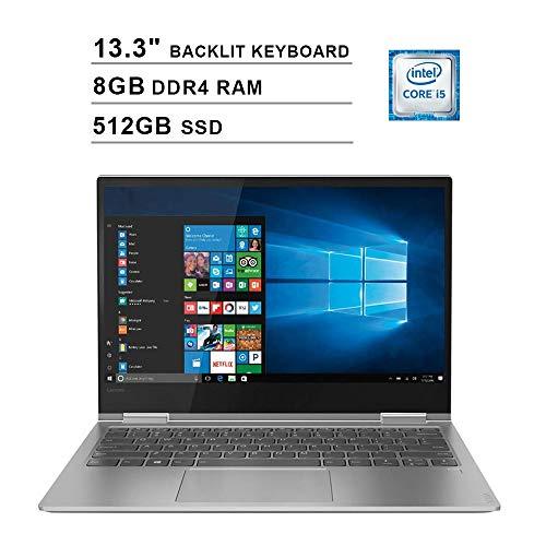 2019 Lenovo Yoga 730 13.3 Inch FHD IPS 2-in-1 Touchscreen Laptop (Intel Quad-Core i5-8250U up to 4.6GHz, 8G RAM, 512GB PCIe SSD, Intel UHD Graphics 620, Backlit Keyboard, JBL Speakers, Win 10) (Lenovo Yoga 2 13 I5 8gb)