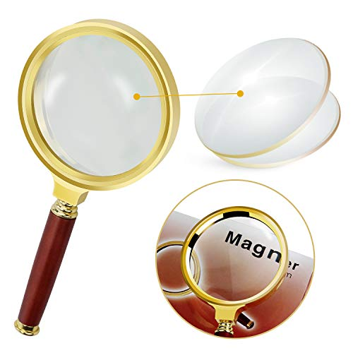 10x Magnifying Glass 80mm Diameter Reading Magnifier