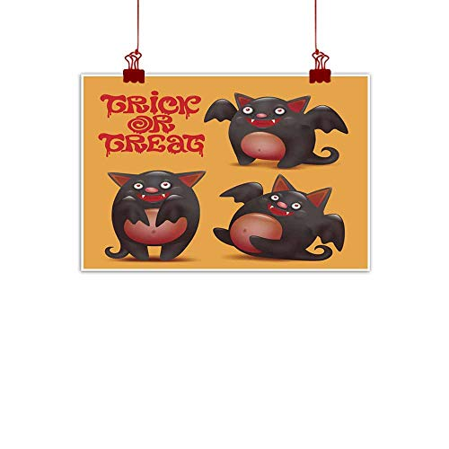 duommhome Abstract Painting Funny bat caracters Set Halloween