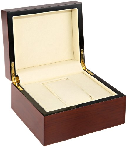 - Diplomat 31-52514 Wide Mahogany Beechwood Box Watch Case