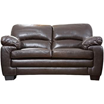 Abbyson Living Plaza Italian Leather Loveseat