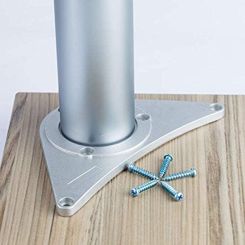 Confezione da 4 gambe di supporto per piano di lavoro della cucina e tavolo per la colazione con piastra di montaggio e viti MKGT/® altezza regolabile: 710 870 1.100 mm 820
