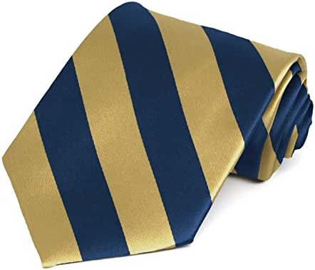 Pale Gold and Twilight Blue Striped Tie