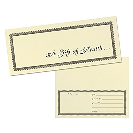 Amazon.com : All Occasion Massage/Chiropractic Gift Certificate, No Logo - (25-Pack) : Office Products