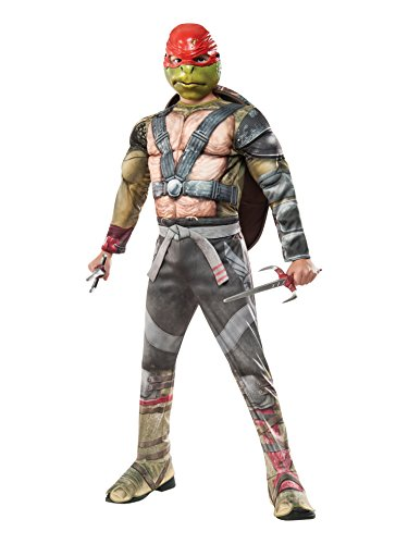 Rubie's Costume Kids Teenage Mutant Ninja Turtles 2 Deluxe Raphael Costume, Large -