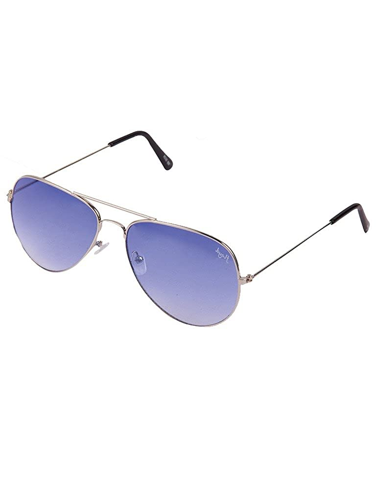 cca5d041ac1d Floyd Classic Aviator Unisex Sunglasses (W123_SIL_BLUE|Blue): Amazon.in:  Clothing & Accessories