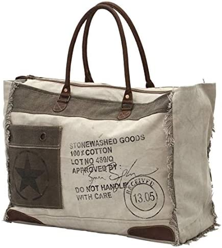 Amazon Com Myra Bags 13 05 Received Upcycled Canvas Weekender Bag S 0775 Travel Totes ✓limited this product belongs to home , and you can find similar products at all categories , luggage & bags , functional bags , shopping bags. myra bags 13 05 received upcycled canvas weekender bag s 0775
