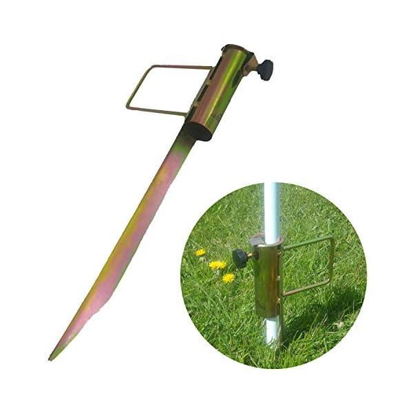 Land-Haus-Shop®, picchetto di supporto per ombrellone o stendibiancheria, da piantare nel terreno, in lamiera di acciaio… 7 spesavip