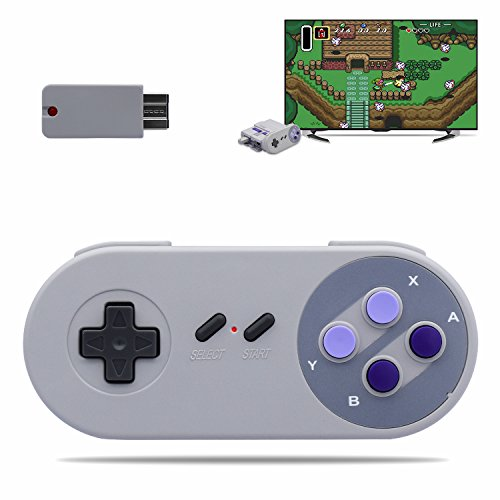 Wireless Game Controller and Retro Receiver for Nintendo Super NES Classic Edition SNES NES Classic Mini(Bluetooth Receiver)