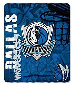 The Northwest Company NBA Dallas Mavericks Hardknocks Fleece Throw Blanket -