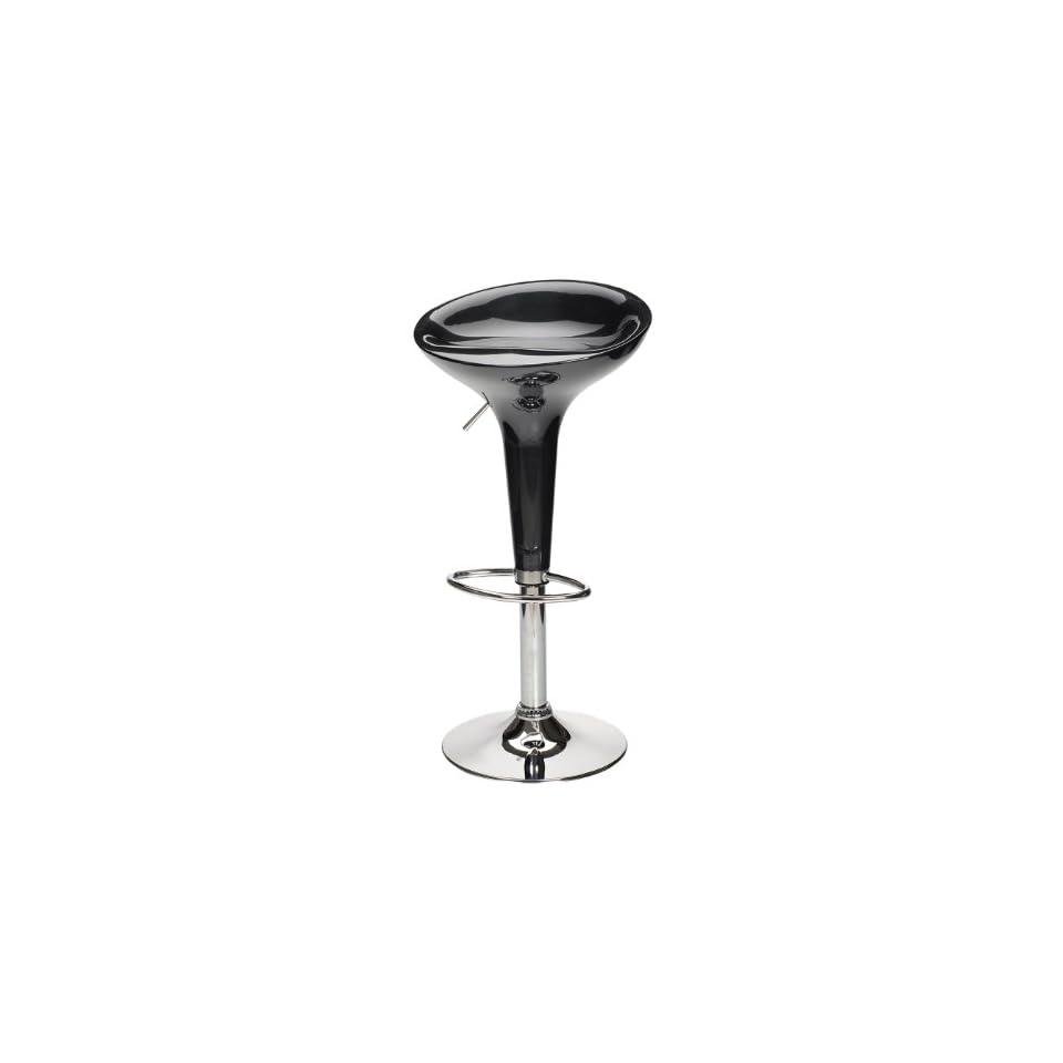 Spectrum Single Air Lift Adjustable, Swivel Seat Stool, ABS Seat Black, Metal Base
