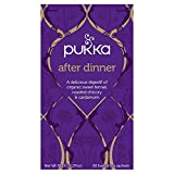 Pukka Herbs Organic After Dinner Herbal Tea, 20 individually wrapped tea bags, 6 Count