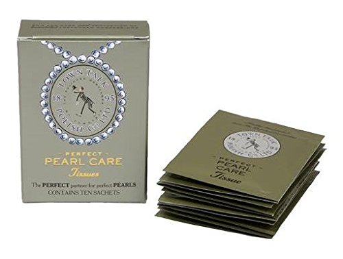 Town Talk Perfect Pearl Care Jewelry Cleaner Tissues - 10 Packets / Sachets