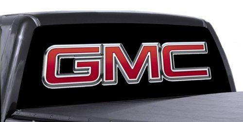 VuScapes - 776-SZD- GMC BLACK Rear Window Truck Graphic - decal suv view thru (Gmc Truck Decals)
